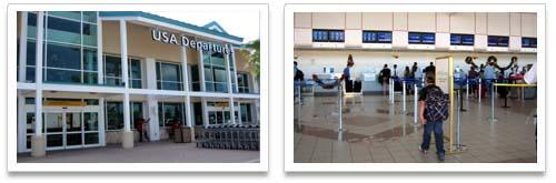 Departure Terminal at the Queen Beatrix International Airport